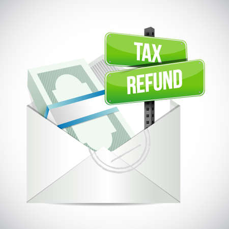 tax refund envelope illustration design graphic over a white background 일러스트