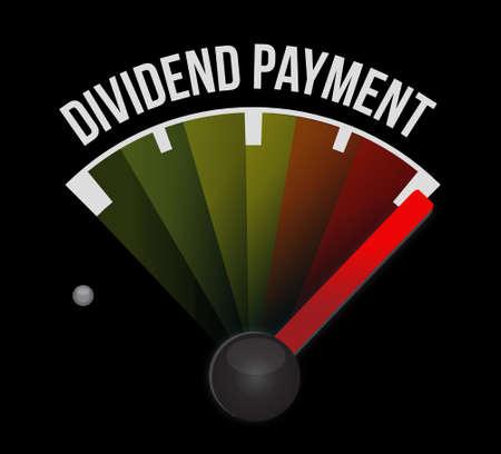 dividend: dividend payment meter sign concept illustration design graphic