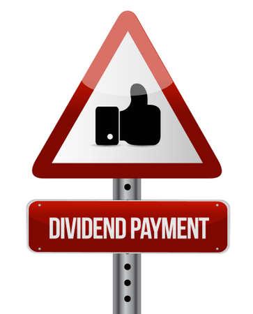 dividend: dividend payment like sign concept illustration design graphic Illustration