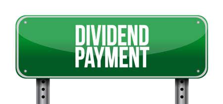 dividend: dividend payment road sign concept illustration design graphic