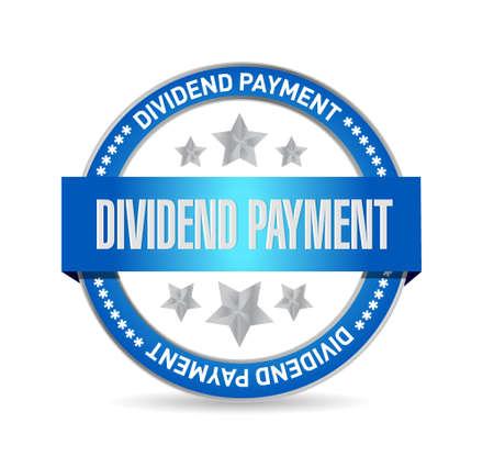dividend: dividend payment seal sign concept illustration design graphic