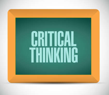 critical thinking: Critical Thinking chalkboard sign illustration design graphic