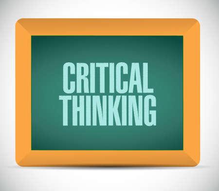 Critical Thinking chalkboard sign illustration design graphic