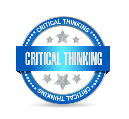 critical thinking: Critical Thinking seal sign illustration design graphic
