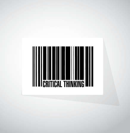 critical thinking: Critical Thinking barcode sign illustration design graphic