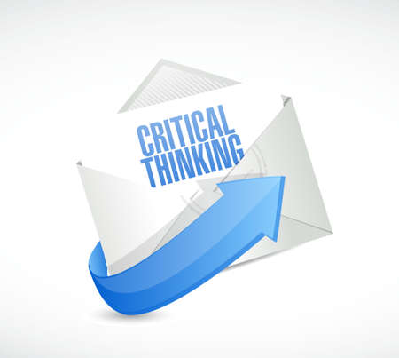 critical thinking: Critical Thinking email sign illustration design graphic