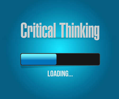 Critical Thinking loading bar sign illustration design graphic