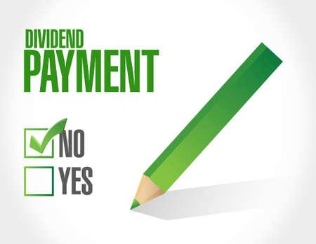 dividend: no dividend payment approval sign concept illustration design graphic Illustration