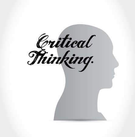 conclusions: Critical Thinking thinking sign illustration design graphic