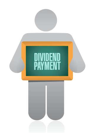 dividend: dividend payment holding sign concept illustration design graphic Illustration