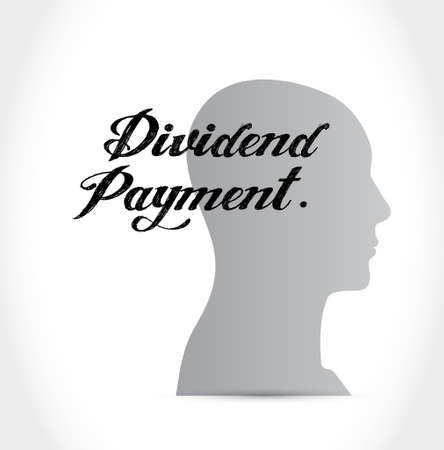 dividend: dividend payment thinking brain sign concept illustration design graphic