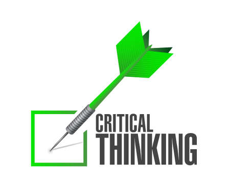 philosophy of logic: Critical Thinking check dart sign illustration design graphic