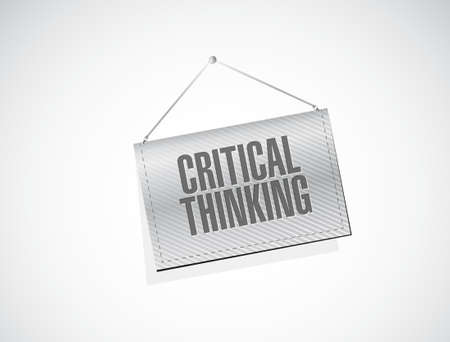 Critical Thinking banner sign illustration design graphic