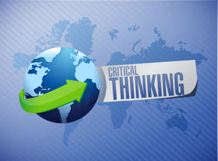 philosophy of logic: Critical Thinking global sign illustration design graphic