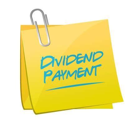 dividend: dividend payment memo post sign concept illustration design graphic Illustration