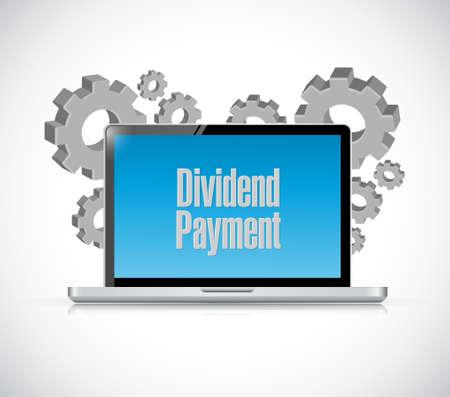 dividend: dividend payment computer sign concept illustration design graphic