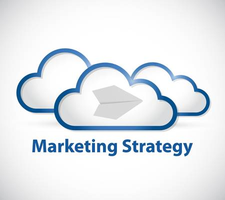 computing: cloud computing marketing strategy sign illustration design graphic