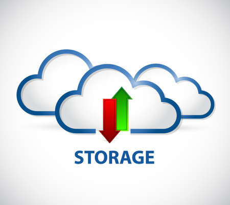 storage: cloud computing server storage illustration design graphic Illustration