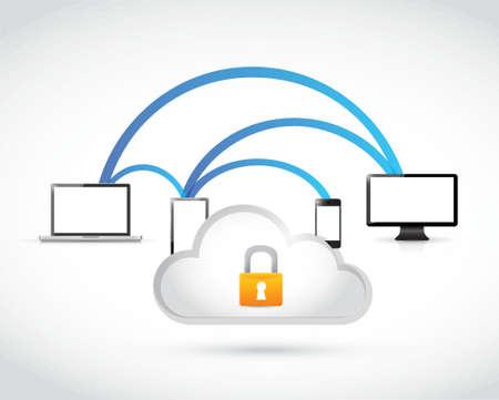 safety net: secure server and network concept illustration design graphic Illustration