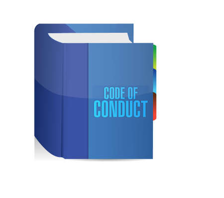 conduct: code of conduct book illustration design graphic Illustration