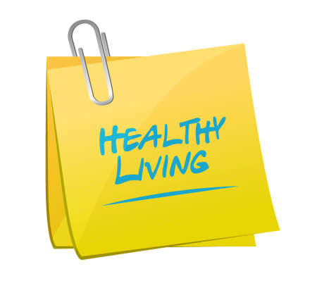 healthy living memo post sign concept illustration design graphic Çizim