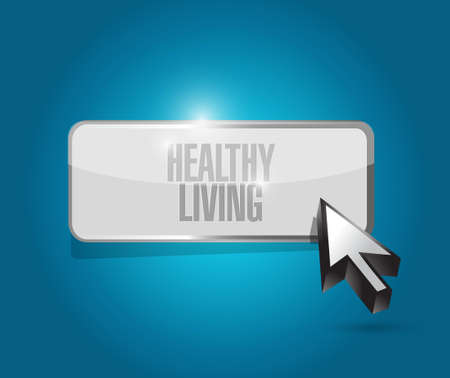 healthy living button sign concept illustration design graphic