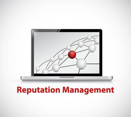 reputation management computer sign illustration design graphic