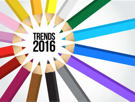 2016 trends multiple colors illustration design graphic background Illusztráció