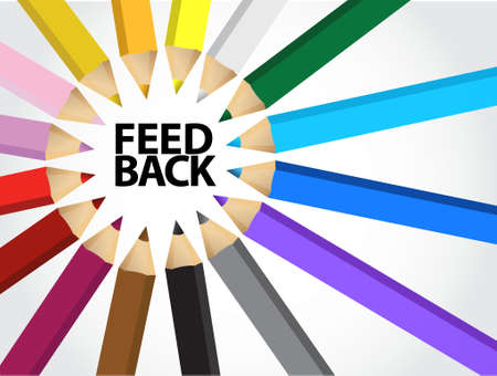 feedback multiple colors illustration design graphic background Illustration