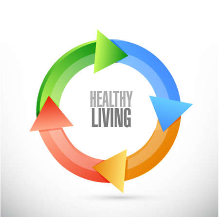 turning point: healthy living cycle sign concept illustration design graphic