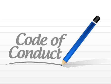 code of conduct message sign illustration design graphic Ilustracja