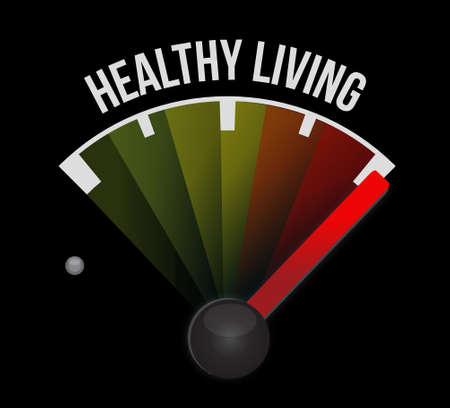 healthy living: healthy living meter sign concept illustration design graphic