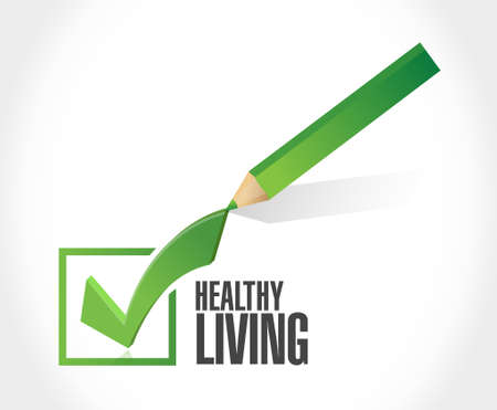 loose: healthy living check mark sign concept illustration design graphic