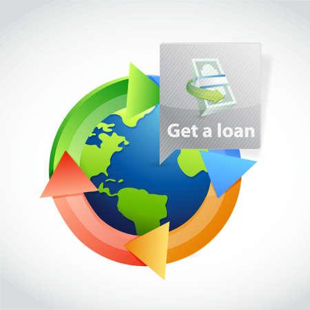get a international loan. illustration design graphic Illustration
