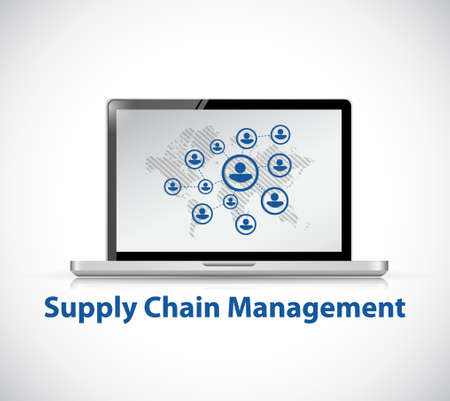 value system: supply chain management computer network illustration design graphic