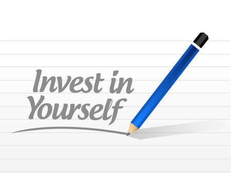 self training: invest in yourself sign message illustration design graphic Illustration