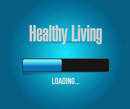 carga: healthy living loading bar sign concept illustration design graphic