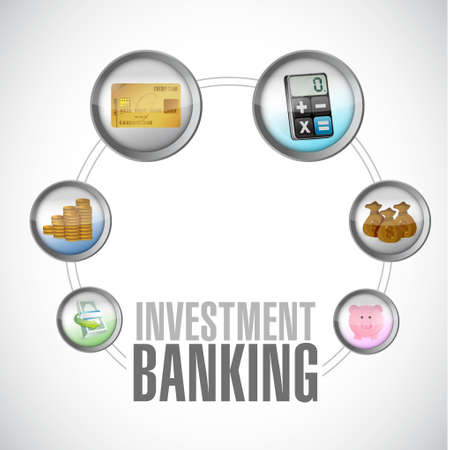 investment concept: Investment Banking financial circle concept illustration design Illustration