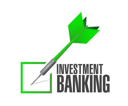 check sign: investment banking check dart sign concept illustration design graphic Illustration