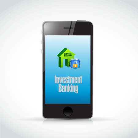 investment concept: Investment Banking mobile concept illustration design graphic