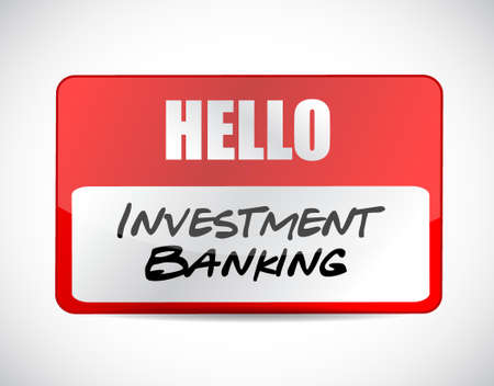 investment banking name tag sign concept illustration design graphic Illustration