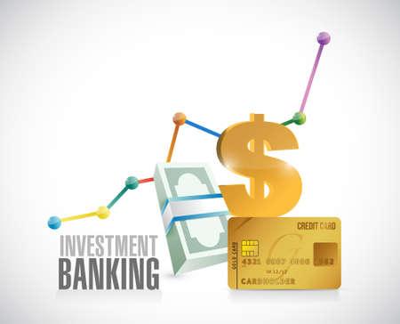 investment concept: Investment Banking financial concept graphics illustration design Illustration