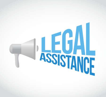 legal assistance loudspeaker sign concept illustration design graphics