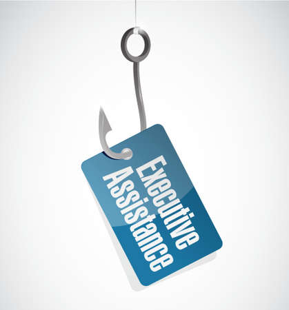 subordinate: executive assistance hook sign concept illustration design graphic