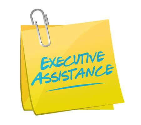 md: executive assistance memo post sign concept illustration design graphic