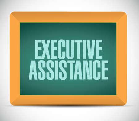 executive assistance chalkboard sign concept illustration design graphic Illustration