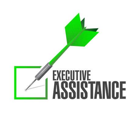 executive assistance check dart sign concept illustration design graphic