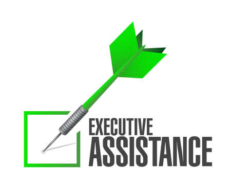 executive assistance check dart sign concept illustration design graphic