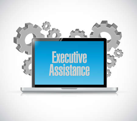 md: executive assistance computer sign concept illustration design graphic