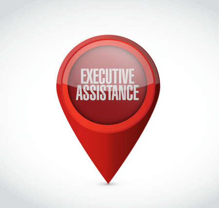 md: executive assistance pointer sign concept illustration design graphic Illustration
